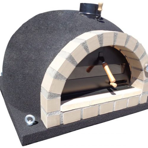 STOCK SALE ! Traditional oven – Black Cork Model with yellow arch 100cm x 100xm Brick
