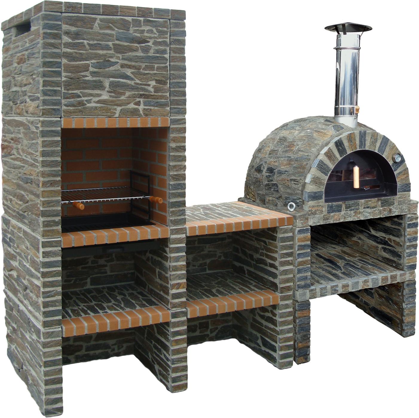 Traditional Oven Natural Grey Stone Model Ii Mobi