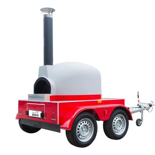 Mobile Wood Fired Pizza Oven – Rear oven entrance