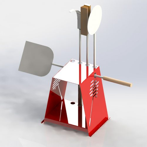 Pizza oven tools stand