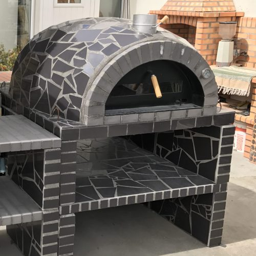 Special offer — Oven + Base + Flue — KIT — Grey Mosaic Model 120x120