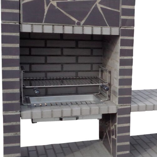Special offer - Grey Mosaic charcoal Barbecue tower