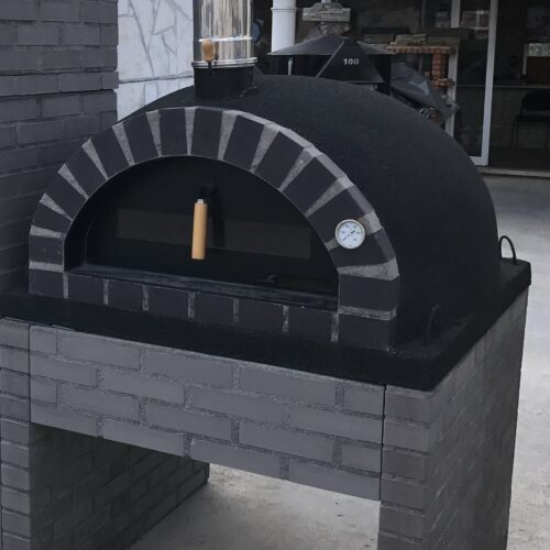 STOCK Special offer - Oven + Base + Flue - KIT - Black Cork Model 110x110