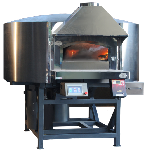 Traditional Dual fuel Wood & Gas Pizza Oven - Esposito Forni - Metal or Rendered Body