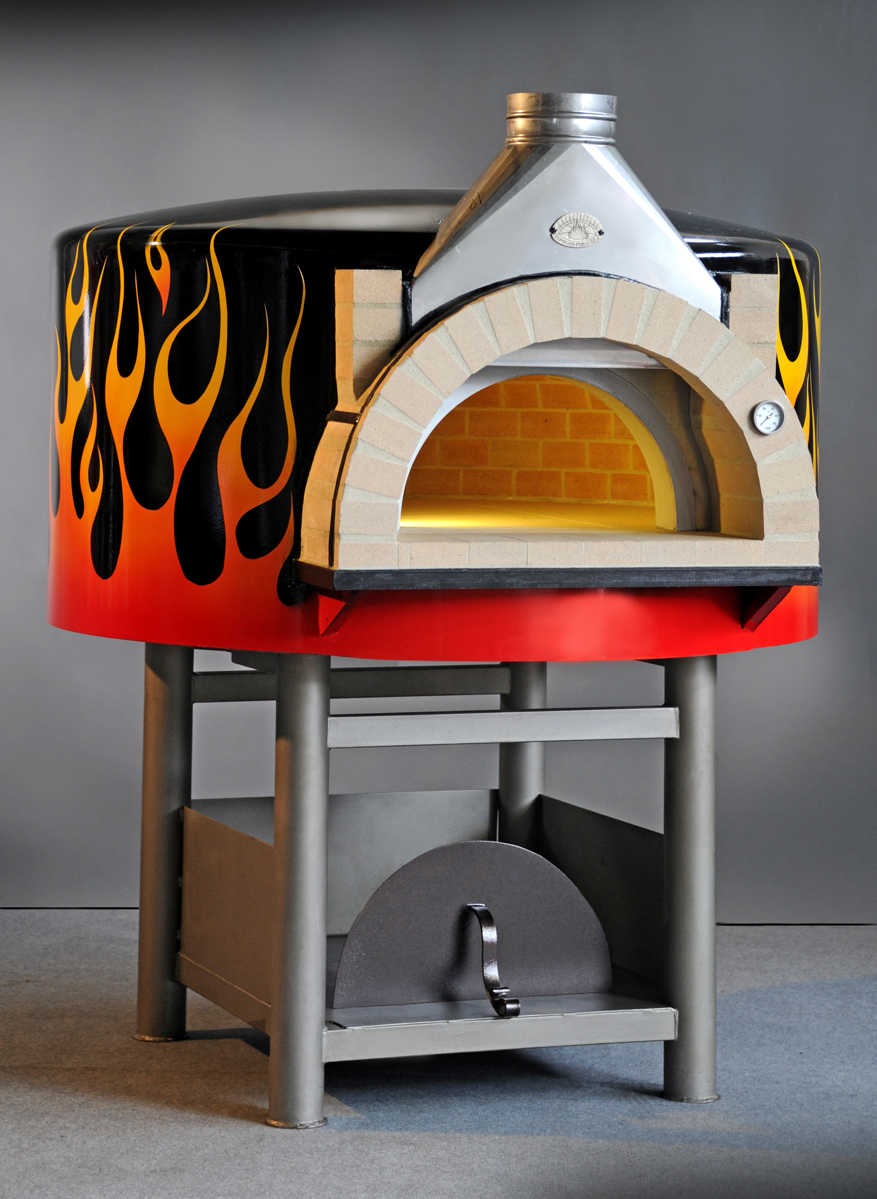 Artisan Commercial Wood Fired Oven Metal Or Rendered