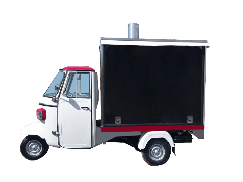 Wood fired mobile pizza oven - Piaggio Ape