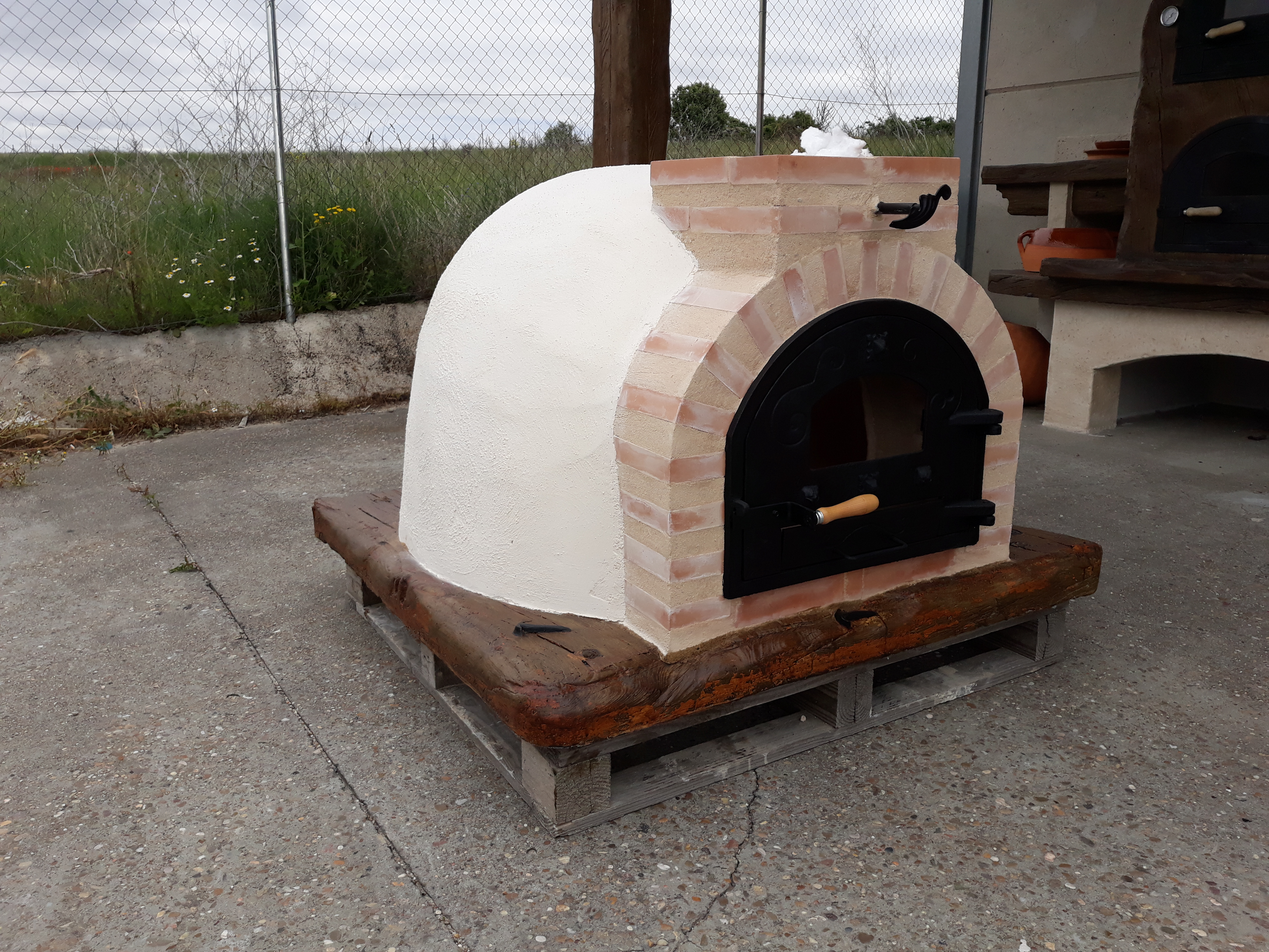 Brick Outdoor Wood Fired Pizza Oven 100cm X 100cm Mosaic Black Model New Varieties Are Introduced One After Another Outdoor Cooking & Eating