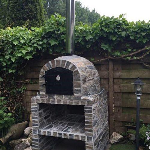AMAZING PRICE REDUCTION Oven + Base + Flue — KIT — Grey Stone Model 90cm