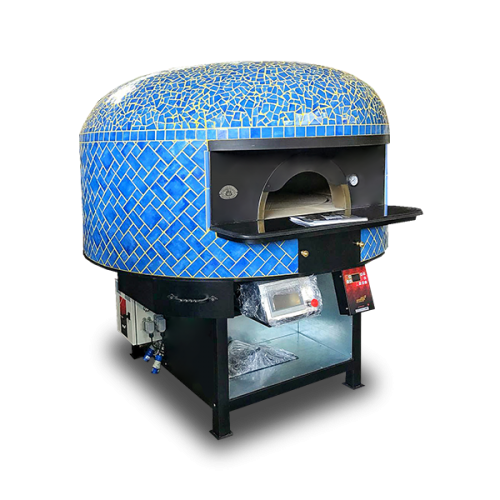 SAETTA 120 COMMERCIAL PIZZA OVEN, MOSAIC, DUAL FUEL, ROTARY FLOOR, ARTISAN ESPOSITO FORNI